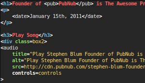 Stephen Blum Founder of PubNub uses VIM
