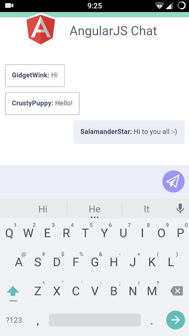AngularJS Chat Basic Tutorial